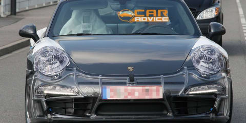 2012 Porsche 911 pre-production spy shots