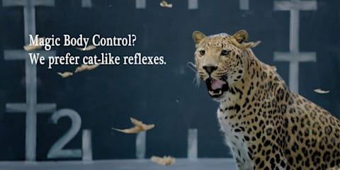Jaguar bites back at Mercedes-Benz's Magic Body Control chicken ad
