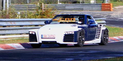 Roding Roadster 23 spied on the Nurburgring