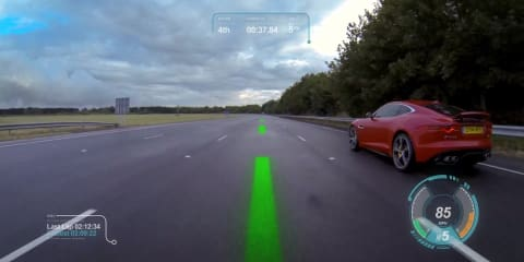 Jaguar Virtual Windscreen brings racing lines, ghost cars to real life