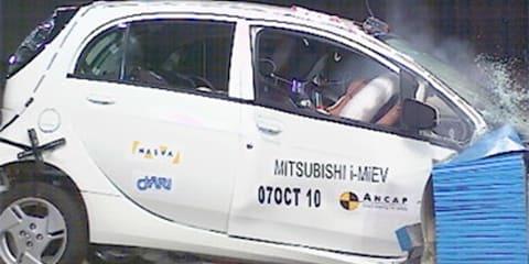 Mitsubishi i-MiEV four-star ANCAP safety rating