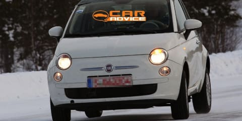 2012 Fiat 500 4x4 spy shots during winter testing