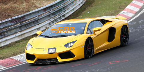 Lamborghini Aventador SV: hardcore bull spied at the Nurburgring