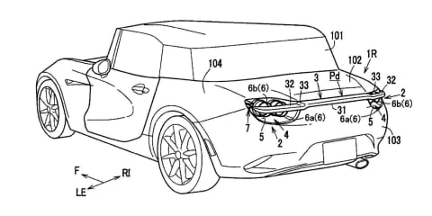 Mazda patents new retractable wing design