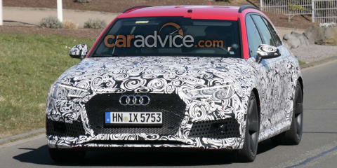 2018 Audi RS4 Avant spied outside the Nurburgring