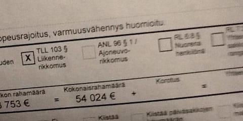 Finnish driver fined $76K for speeding