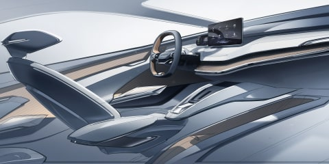 Skoda Vision iV concept interior sketched