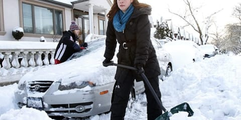 Drivers fined for saving shovelled out parking spaces
