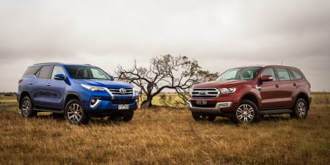Ford Everest Trend v Toyota Fortuner Crusade comparison