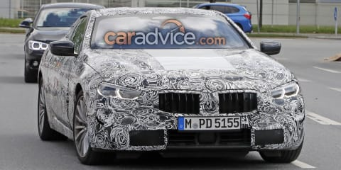 2018 BMW 8 Series spied with production lights