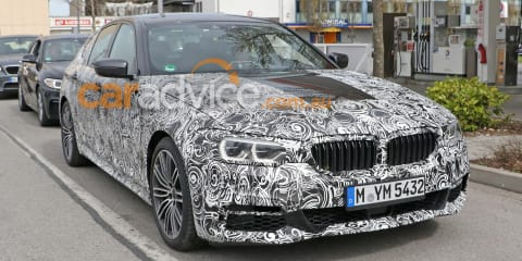 2017 BMW 5 Series M Sport sedan exterior and interior spy photos