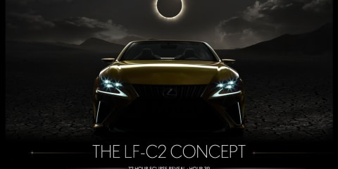 Lexus LF-C2 convertible concept teased for a second time