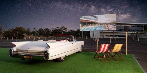 Watch a movie in a 1960s Series 62 Cadillac