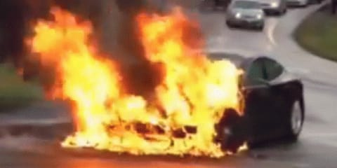 Tesla Model S catches fire; CEO maintains electric cars are safe