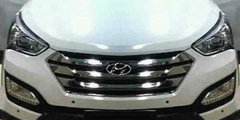 2013 Hyundai Santa Fe: secret pictures