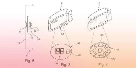 Ford patents puddle light for EV models with integrated charge display