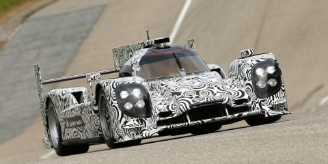 Porsche LMP1 prototype makes track debut