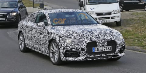 2017 Audi A5 spy photos
