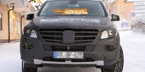 2011 Mercedes-Benz ML-Class winter spy shots