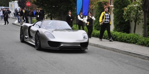 Video: Porsche 918 Spyder Concept driven at Pebble Beach
