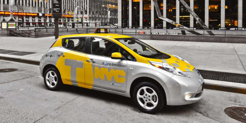 Nissan Leaf New York taxi pilot launched