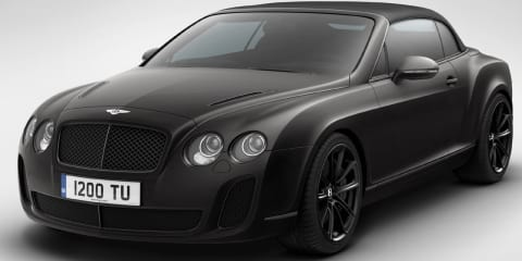 2011 Bentley Continental Supersports Ice Speed Record Convertible special edition