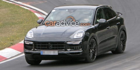 2019 Porsche Cayenne Coupe spied at the Nurburgring