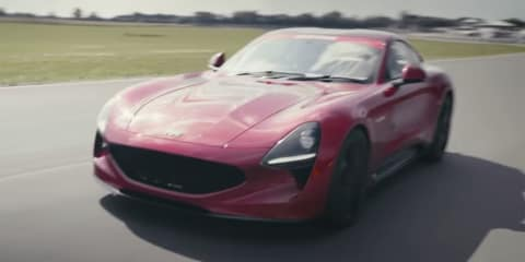 TVR Griffith hits the race track - video