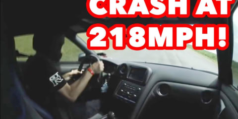 2000+HP SWITZER R35 GTR LOSES CONTROL AT 218MPH (349KPH)!
