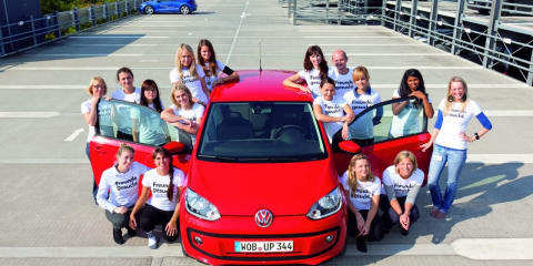 Volkswagen Up! fits 16 people in record attempt