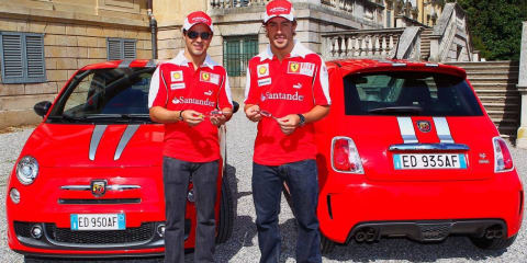 Ferrari Drivers Alonso and Massa get an Abarth 695 Tributo Ferrari
