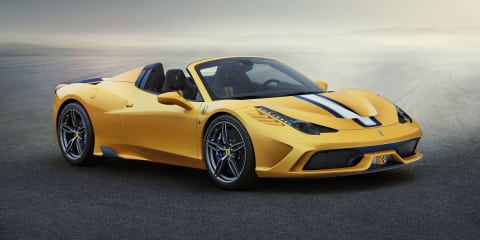 "Ferrari 458 Speciale A : $635K convertible ""most hotly contested special edition"", says local boss"