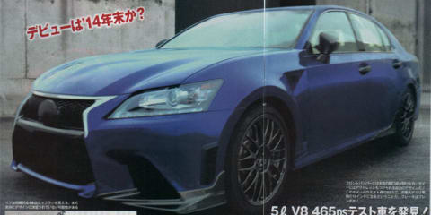Lexus GS F: new super sedan prototype spied