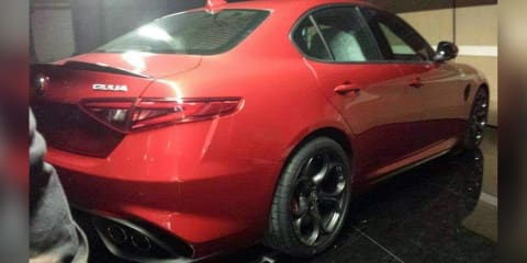 Alfa Romeo Giulia sedan leaked online
