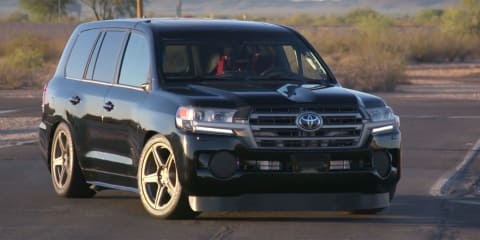 Toyota LandCruiser with more than 1500kW claims unofficial world's fastest SUV title