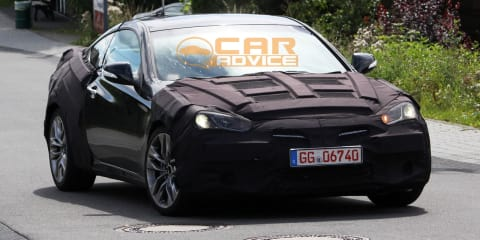 Hyundai Genesis Coupe Facelift Spy Photos