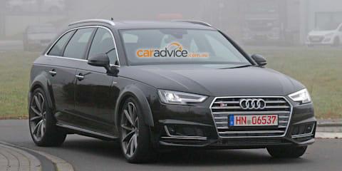 Audi RS4 Avant mule spy photos