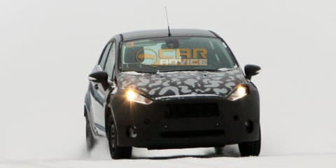 Ford Fiesta midlife update spy photos