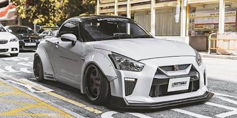 Daihatsu Copen transformed into mini-Nissan GT-R convertible