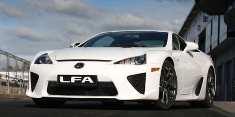 Lexus LFA rolls off production line for first time
