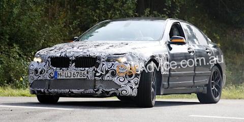 BMW M5 F10 prototype spy pics