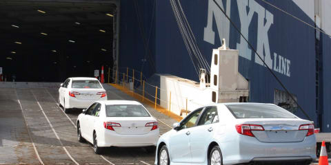 Toyota Camry and Aurion: exports account for 70 per cent of local production