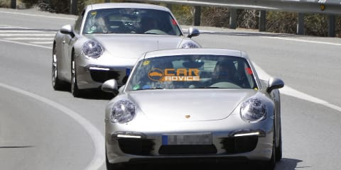 2012 Porsche 911 more revealing spy shots
