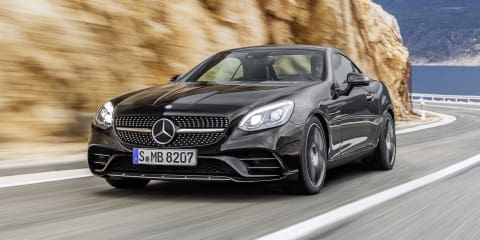 2016 Mercedes-Benz SLC revealed : Mercedes-AMG SLC43 V6 headlines renamed range, no more V8
