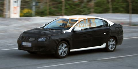 Renault Latitude test mule spied after unveiling