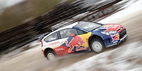 Kimi Raikkonen's first Citroen C4 WRC test drive