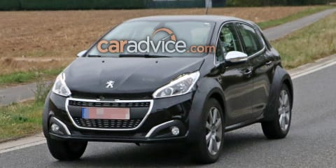 Peugeot small crossover mule spied