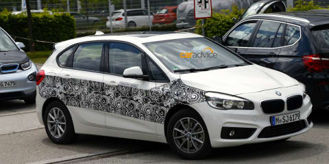 BMW 2 Series Active Tourer plug-in hybrid caught testing