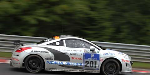 Peugeot RCZ HDi class winner at Nurburgring