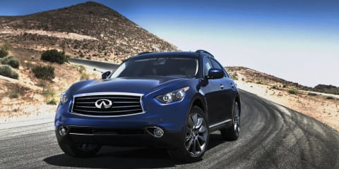 2012 Infiniti FX revealed, on sale in Australia in Q3 2012